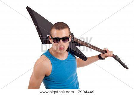 Guitar On Shoulder