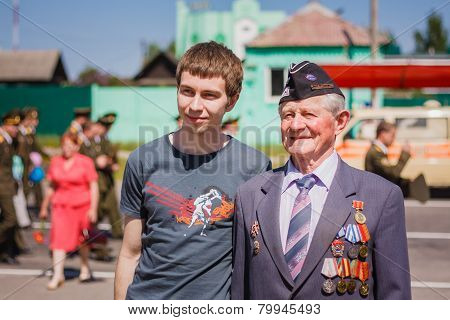 Unidentified veteran during the celebration of Victory Day. GOME