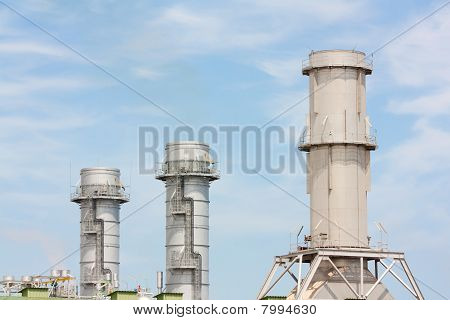 Three Industrial Chimneys