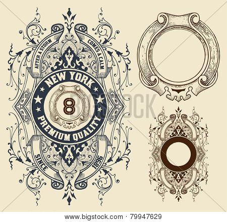 Retro design with elements. Vector file.