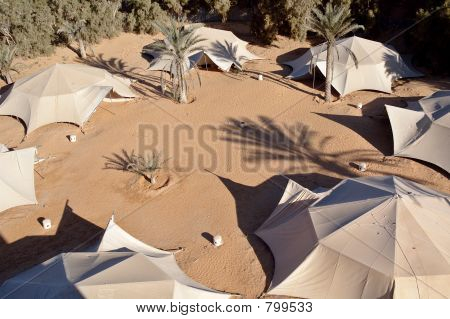 Tents of the nomadic Bedouin tribes