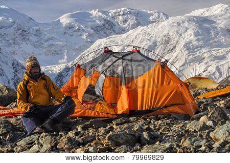 Engilchek Glacier Camping