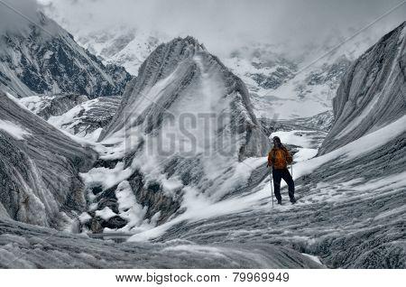 Engilchek Glacier Hiking