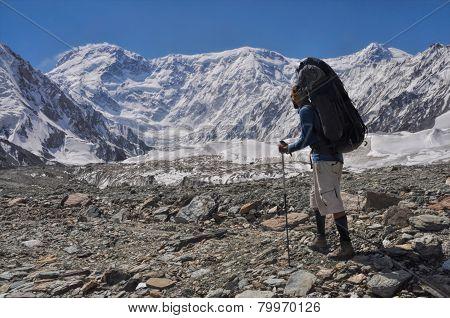 Trekking On Engilchek Glacier