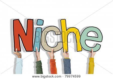 Niche Business Marketing Specific Conceptual Commerce Segregated Concept