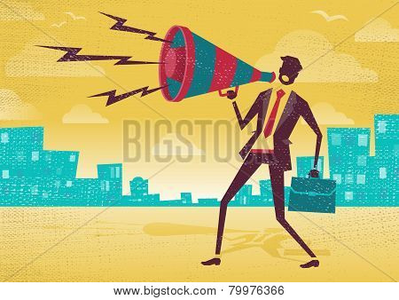 Businessman With Megaphone.