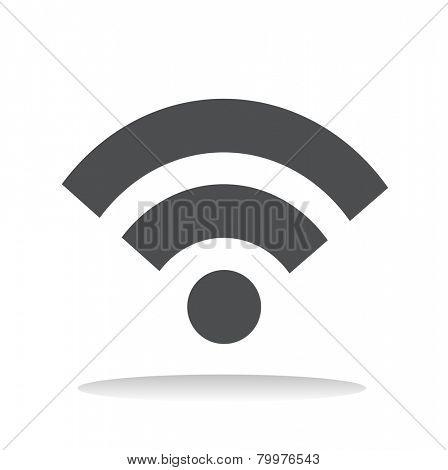 Wifi Wireless Technolgy Online Network Icon Vector Concept