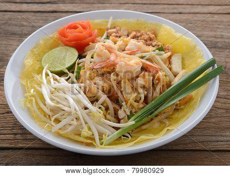 close up Pad thai ,Thai style noodles poster