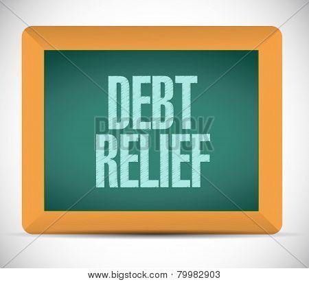 Debt Relief Board Sign Illustration Design