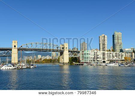 Burrard Bridge, Vancouver, BC, Canada