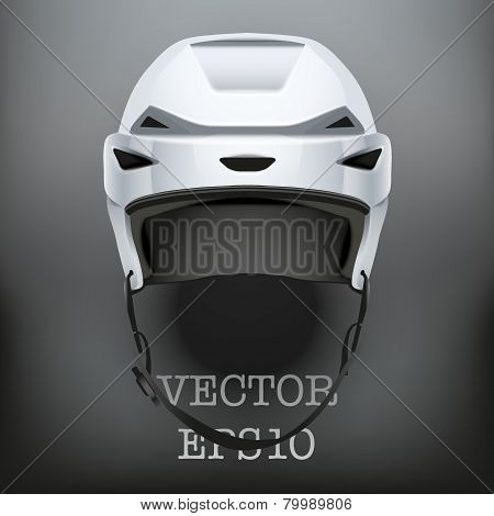 Background of Classic Ice Hockey Helmet