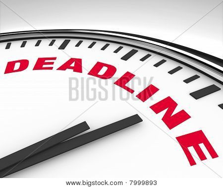 Deadline - Word On Clock