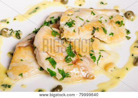 steamed zander fish
