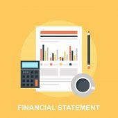 Vector illustration of financial statement flat design concept. poster