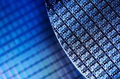 Macro of Silicon wafers. Low DOF poster