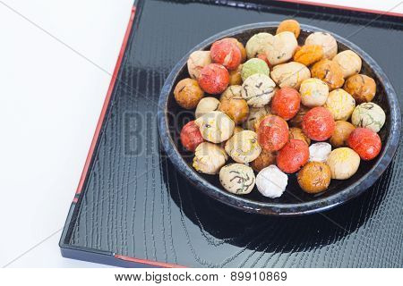 mame kichi japanese sweets beans with colored sugar coat