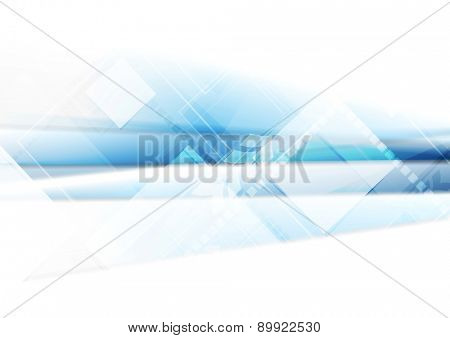 Light blue technology background with squares. Shiny vector design