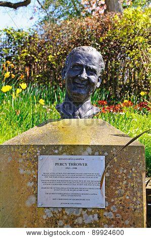 Percy Thrower Memorial, Shrewsbury.