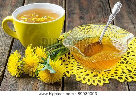 Useful Jam Of Dandelions And Flower Tea
