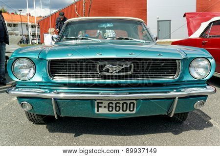 Ford Mustang In Light Blue