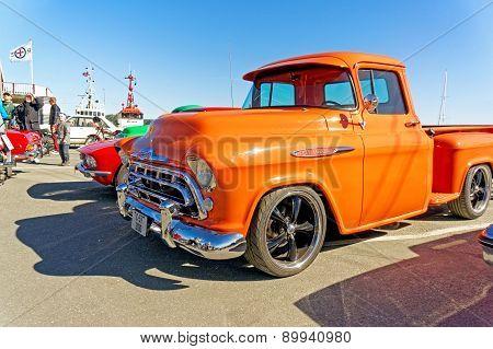 Chevrolet 3100 In Orange