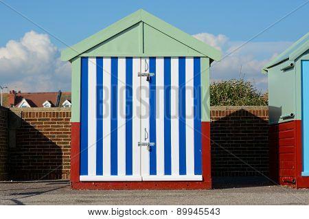 Beach Hut At Hove, Brighton, England