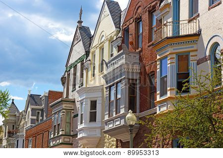 Residential architecture of Washington DC USA.