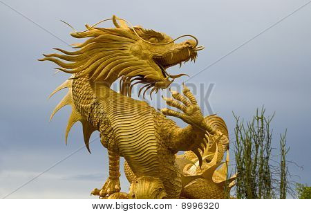 Golden Dragon statue