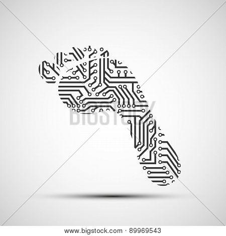 Vector Icon Footprint