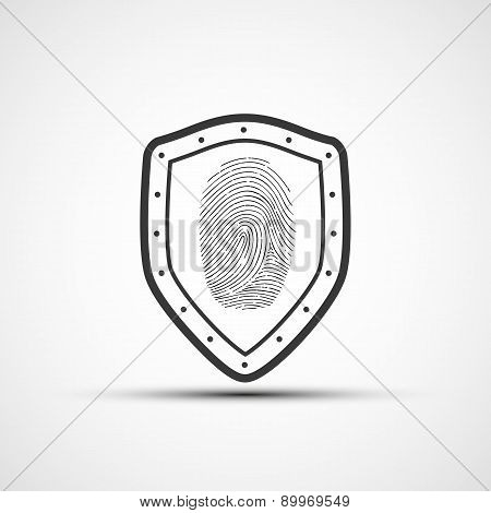Metal Shield With The Fingerprint