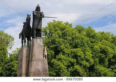 Monument Of Gediminas In Vilnius, Lithuania, Europe