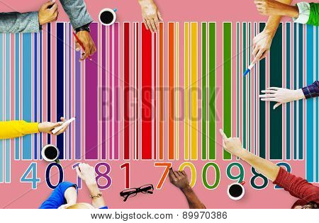 Bar Code Price Tag Coding Encryption Label Merchandise Concept