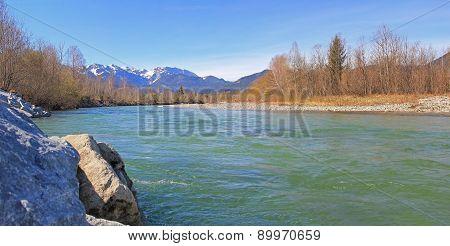 River Isar At Springtime