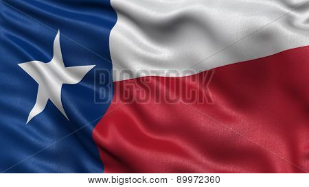 US state flag of Texas with great detail waving in the wind.