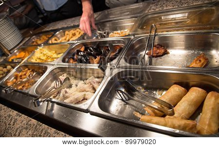Food In The Buffet Chinese Restaurant