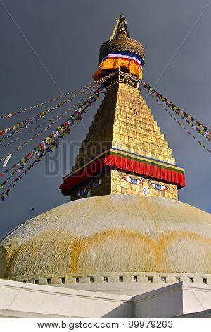 Boudhanath Stupa Before The Earthquake, Kathmandu, Nepal