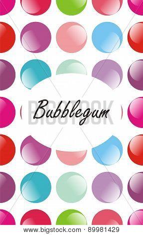 Seamless colourful bubblegum pattern
