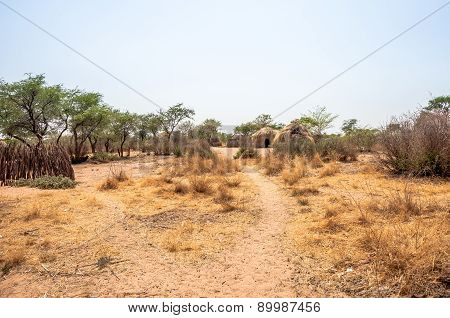 Bushmen village in Botswana