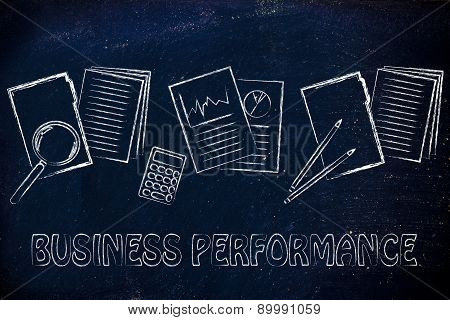 Measuring Business Performance: Folder, Stats And Budget
