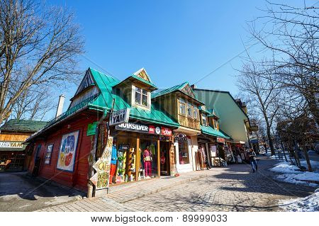 Residential And Commercial Buildings In Zakopane