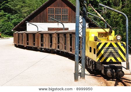 Mining Train Close View