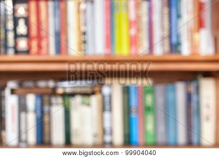 Unfocused Books On Bookshelf
