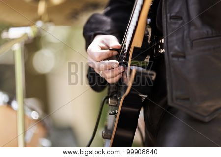 rock and roll concert, selective focus