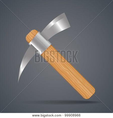 Mining Tools, Shovel And Pickaxe Vector Illustration.