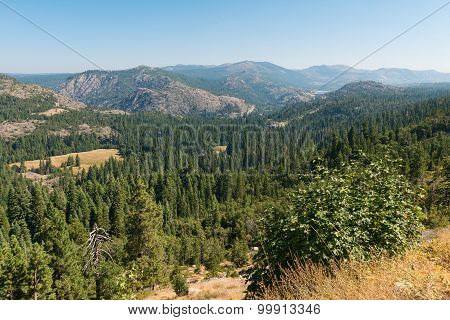 Emigrant Gap in the Sierra Nevada Mountains California poster