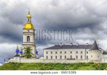 Tobolsk Kremlin Panorama Menacing Sky
