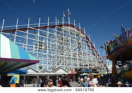 Rollercoaster In Santa Cruz California