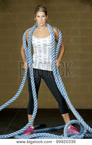 Girl With Training Ropes
