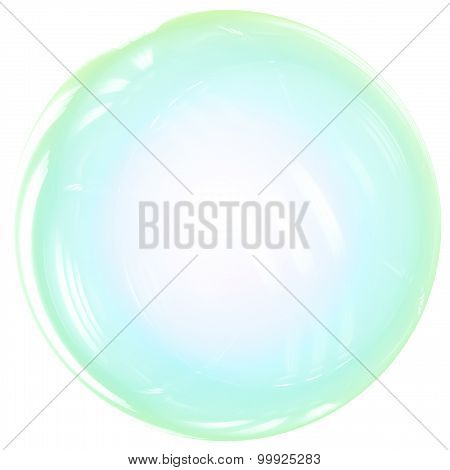 Soap Bubble ball translucent colored as rainbow.