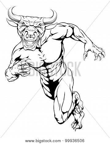 Running Bull Mascot